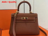 Hermes Mini Kelly Tan Togo Leather Replica