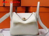 Hermes Mini Lindy Bag in Beige Taurillon Clemence Leather Replica