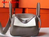 Hermes Mini Lindy Bag in Grey Taurillon Clemence Leather Replica