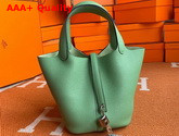 Hermes Picotin Lock 18 Bag in Apple Green Taurillon Clemence Leather Replica