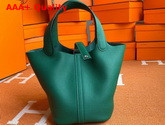 Hermes Picotin Lock 18 Bag in Green Taurillon Clemence Leather Replica