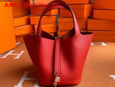 Hermes Picotin Lock 18 Bag in Red Taurillon Clemence Leather Replica