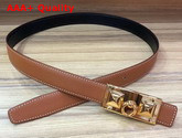Hermes Rivale Belt in Tan Epsom Calfskin Leather Replica
