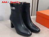 Hermes Saint Germain Ankle Boot in Black Calfskin Replica