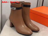Hermes Saint Germain Ankle Boot in Brown Calfskin Replica