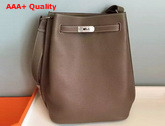 Hermes So Kelly Bag In Elephant Grey Original Leather Replica