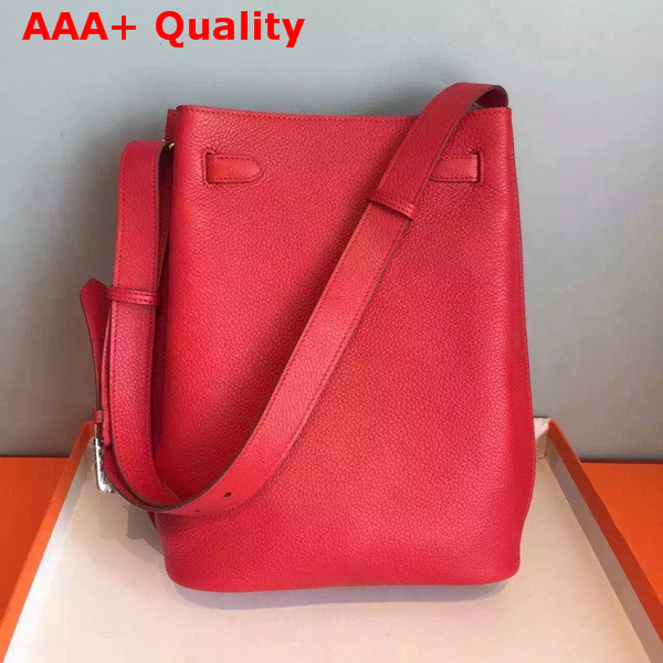 Hermes So Kelly Bag In Red Original Leather Replica