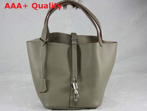 Hermes Picotin Bag in Grey Togo Leather Replica