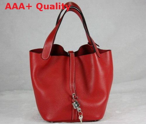 Hermes Picotin Bag Red Togo Leather Replica