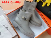 Hermes Veo Ankle Boot Grey Calfskin Replica