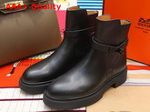 Hermes Veo Ankle Boot in Black Calfskin Replica