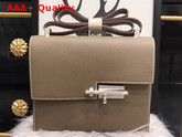 Hermes Verrou Bag in Grey Epsom Calfskin Replica