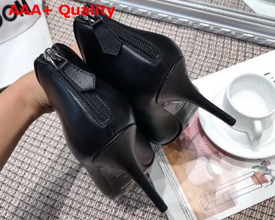 Hermes Virginia Ankle Boot in Black Calfskin with Slender Heel Replica