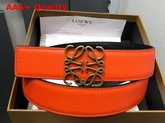 Loewe Anagram Belt 32cm Orange and Black Calfskin Replica