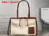 Loewe Cushion Tote Cord Canvas and Classic Calf Replica