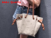 Loewe Flamenco Knot Tote Logos Bag Natural Linen and Tan Classic Calf Replica