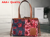 Loewe Paulas Cushion Tote Prints Blue and Red Replica