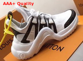 LV Archlight Trainer Patent Monogram Canvas and Technical Fabrics White Replica