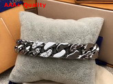LV Chain Links Bracelet Silver Color Metal M68273 Replica