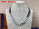 LV Chain Links Necklace in Silver Color Metal M68272 Replica
