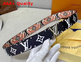 LV Crafty Iconic 30mm Reversible Belt Creme Rouge Noir M0312U Replica