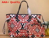 LV Crafty Neverfull MM Cream and Red M56583 Replica