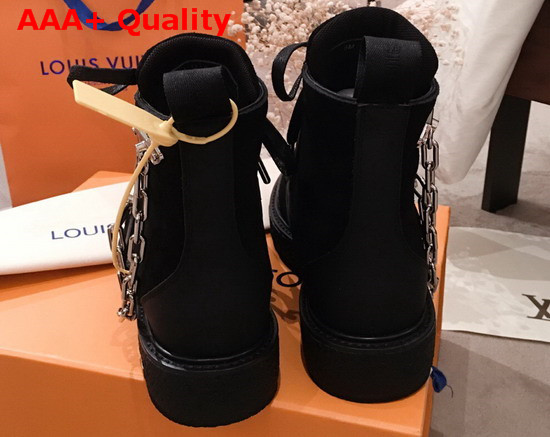LV Creeper Ankle Boot Black Suede Calf Leather 1A54C1 Replica