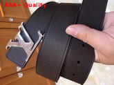 LV Initiales 40 mm Reversible Belt in Coffee and Black Grained Calfskin Replica