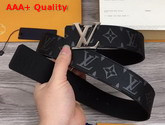 LV Initiales 40mm Reversible Belt Monogram Eclipse Canvas and Taiga Leather LV Initiales Buckle in Silver Replica