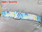 LV Shape 40mm Reversible Belt Multicolor Monogram Canvas MP279T Replica