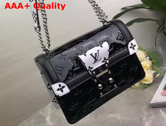 LV Wynwood Black Embossed Monogram Vernis Patent Cowhide M90445 Replica