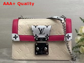 LV Wynwood Cream Embossed Monogram Vernis Patent Cowhide M90442 Replica M90442