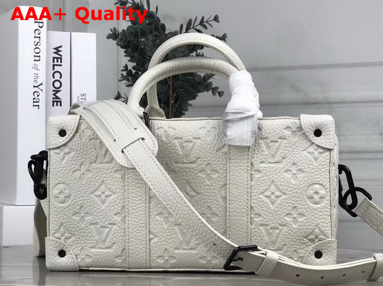 Louis Vuitton 2020 Mens Spring Summer Fashion Show Runway Bag in White Taurillon Monogram Leather Replica