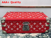 Louis Vuitton 8 Watch Case in Red Monogram Canvas Customized Replica