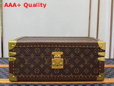 Louis Vuitton Accessories Box Monogram Canvas Black Microfiber Lining Replica