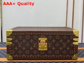 Louis Vuitton Accessories Box Monogram Canvas Blue Microfiber Lining Replica