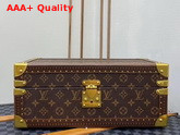 Louis Vuitton Accessories Box Monogram Canvas Khaki Microfiber Lining Replica