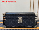 Louis Vuitton Accessories Box Monogram Eclipse Coated Canvas Dark Grey Microfiber Lining M44127 Replica