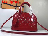 Louis Vuitton Alma BB Cherry Monogram Vernis Leather with Leather Patches and Studs Replica