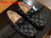 Louis Vuitton Arizona Moccasin in Black Denim Monogram Canvas Replica