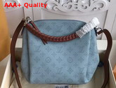 Louis Vuitton Babylone Chain BB Blue Mahina Perforated Calf Leather Replica