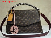 Louis Vuitton Beaubourg Monogram Coated Canvas with Burgundy Calf Leather Shoulder Strap Replica