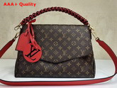 Louis Vuitton Beaubourg Monogram Coated Canvas with Red Calf Leather Shoulder Strap Replica