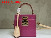 Louis Vuitton Bleecker Box Monogram Vernis Pink Replica