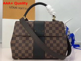 Louis Vuitton Bond Street Damier Ebene and Taurillon Leather Black Replica