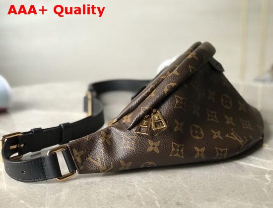 Louis Vuitton Bumbag in Monogram Coated Canvas and Black Cowhide Leather Trim Replica