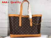 Louis Vuitton Cabas Voyage Tote in Monogram Canvas and Natural Leather M44878 Replica