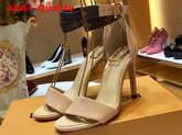 Louis Vuitton Call Back Sandal in Nude Patent Calf Leather Replica