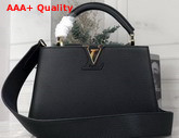 Louis Vuitton Capucines BB Handbag in Black Taurillon Leather Replica
