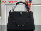 Louis Vuitton Capucines BB Handbag in Black Taurillon Leather with Black Matte Hardware M55218 Replica